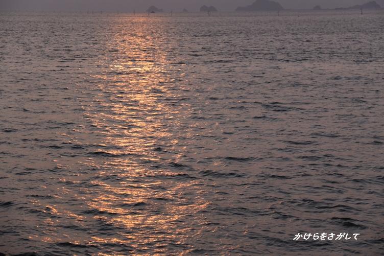 夕焼けの海.