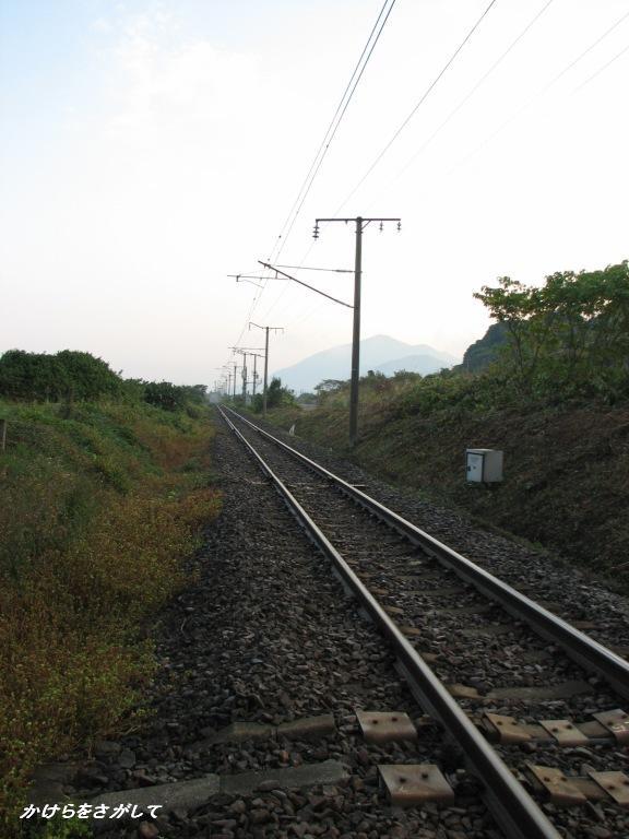 晩秋の線路